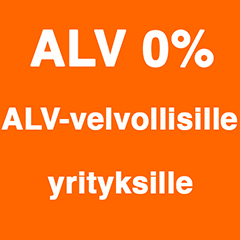 ALV0% arvonlisäverolliseksi rekisteröityneille yrityksille
